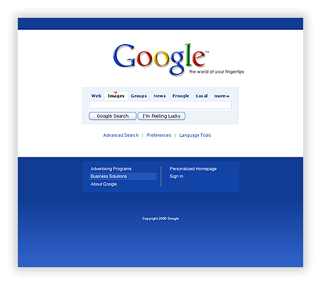 google interface