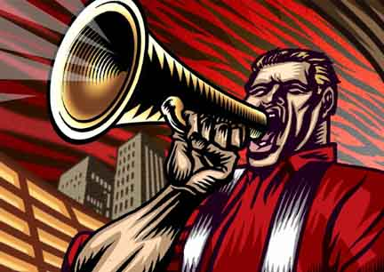Megaphone Man!