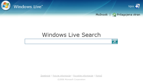 MSN search je postal Live